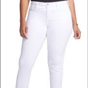NYDJ Curves 360 Slim Straight Ankle White Jeans